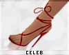 © Tie Up Heels Red