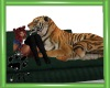 CW Green Sofa W/Tiger