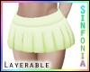 Layer. Lime Green Skirt