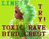 Lime Toxic BirdRav Crest