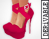 ! Red Strappy Pumps