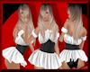Lollie Dress+Corset Wht