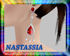(Nat) Red Gems Earrings
