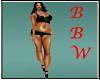 BBW Blk & Teal Shorts se