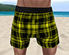 Yellow PJ Shorts Plaid M