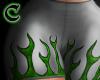 green flames rll
