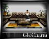 Glo* LeatherSofaSet B/G