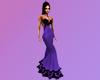 Purple Black Lace Gown
