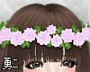 Y' Purple Flower Crown