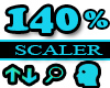 145% Scaler Head Resizer