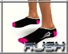 {DR} Socks Black Pink