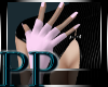 Pink Latex Glove/Nails