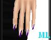 ML Hands - Purple Nails