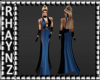 Ria Blue Evening Gown