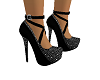 Black Suede dia Pumps