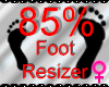 *M* Foot Resizer 85%