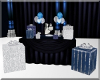Blue Crystal Gift Table