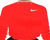 F. Red Nikey Jumper