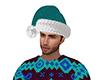 Turquoise Santa Hat (M)