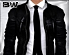 Black Leather Jacket Tie