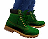 Green Lace Work Boots M