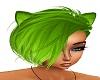 Neon green cat ears