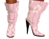 Pink Flower Doll Boots