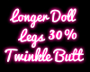 Longer Doll Legs +30