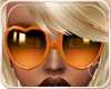 !NC Heart Glasses Orange