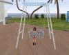 Ocean blue swing