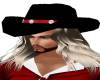 Black and Red Cowboy Hat