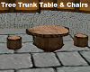 Tree Trunk Table & Chair