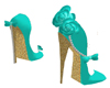 Zapato turquoise D.E