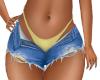Zoe Yellow Jean Shorts