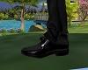 black shoes suit