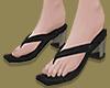 Square Toe Mules(Black)