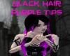 Black Hair Purple Tips