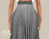 H. Pleated Skirt Gray
