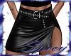 $ Black Leather Skirt