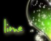 glitter heart green