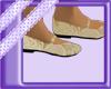 Gold flower girl shoe