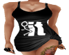 F U Tee Shirt Dress Blk