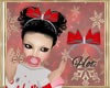 ~H~Kid Candy Cane Bow