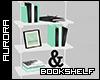 A| Teal Hangin Bookshelf