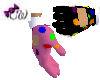 Pink Clown Gloves