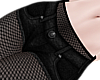 B! Black shorts fishnets