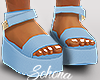 ṩ Platform Sandals Blu