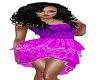 purple summer jean dress