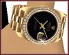 Gold Big Face Watch