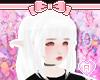 Platinum White ponytails